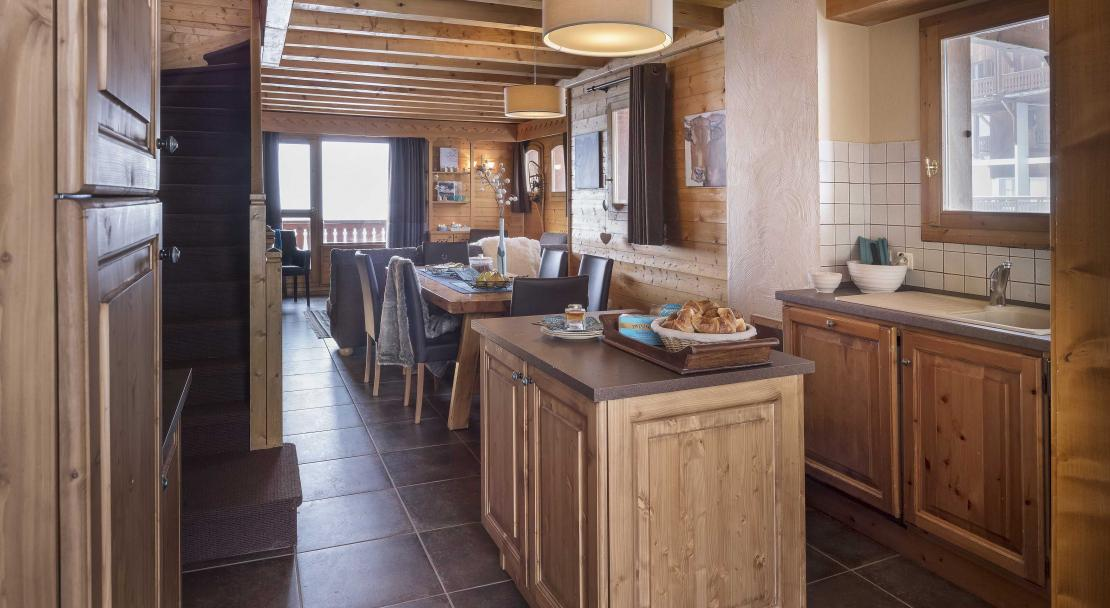 Chalet Lombarde Val Thorens Kitchen