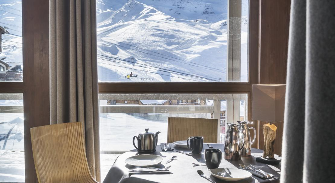 Stunning views from Le Hameau du Kashmir Val Thorens