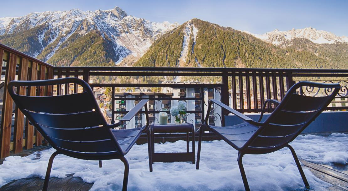 Mountain view Hotel le Morgane Chamonix