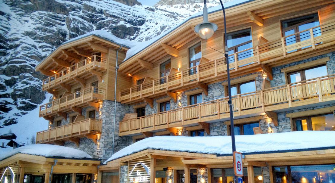 Exterior of Hotel La Toviere Val d'Isere
