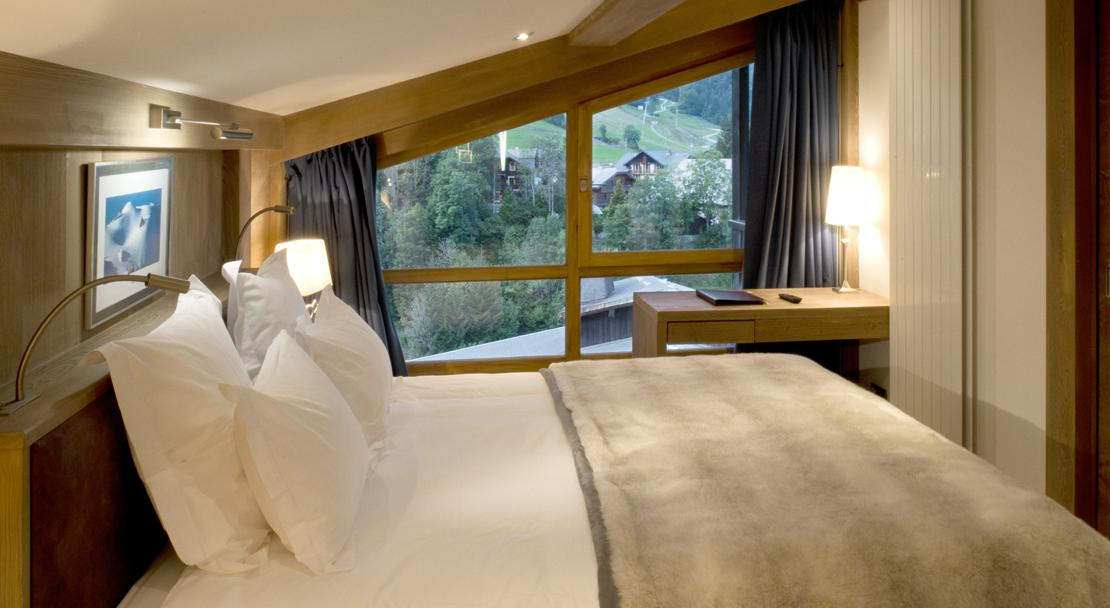 A Junior Suite at Hotel-le-Petit-Dru-Morzine-