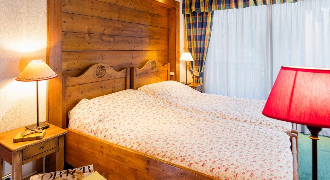 A bedroom at Hotel Les Airelles in Morzine