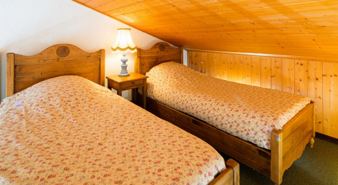 Twin bedroom Hotel Les Airelles in Morzine