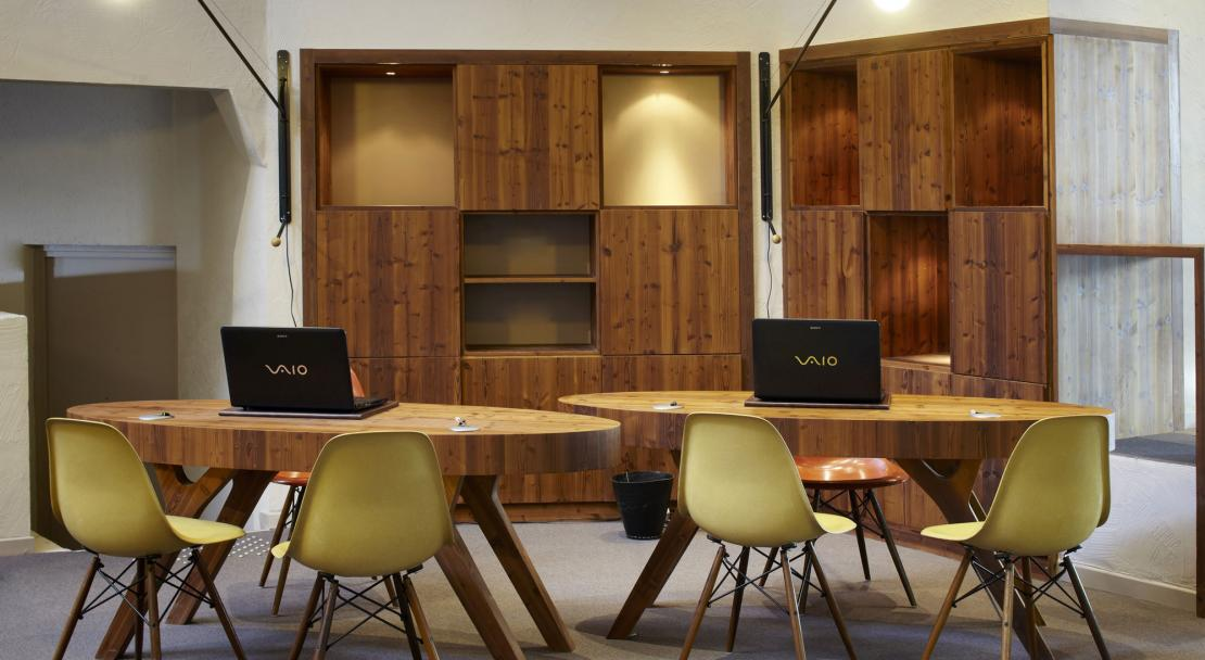 Reception area in Hotel Val Thorens