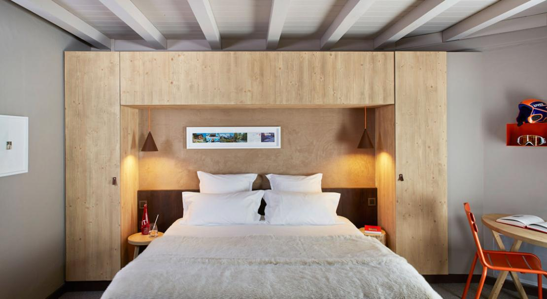 Double Bedroom at Hotel Le Val Thorens