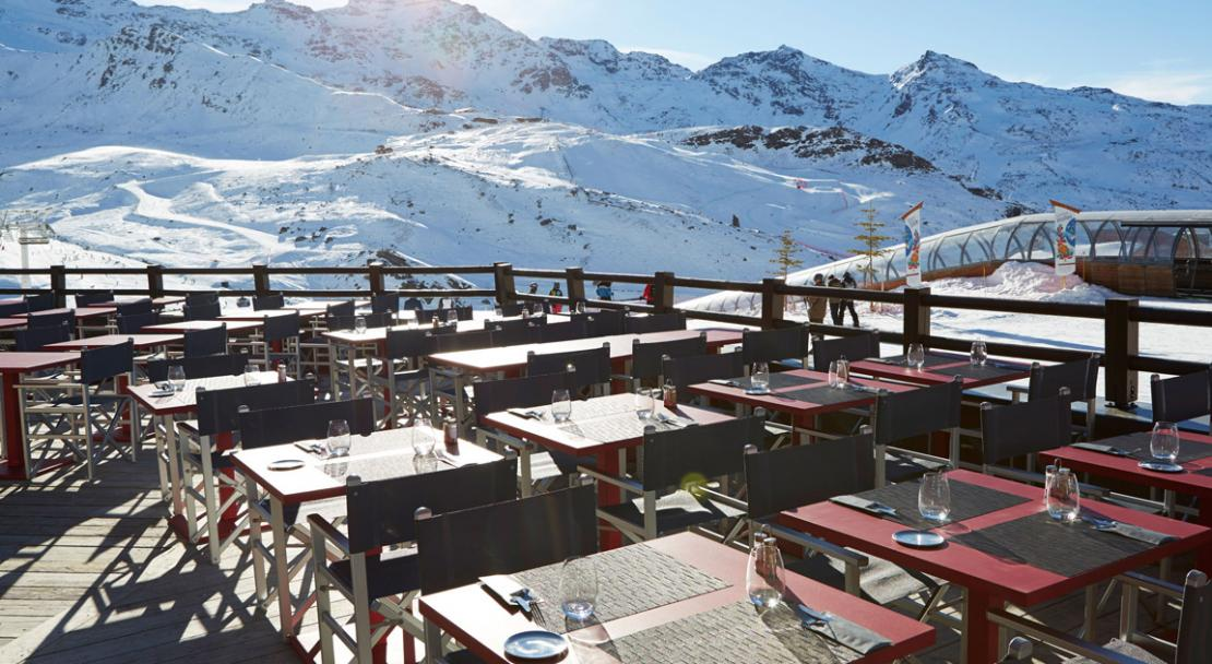 Terrace at Hotel Val Thorens