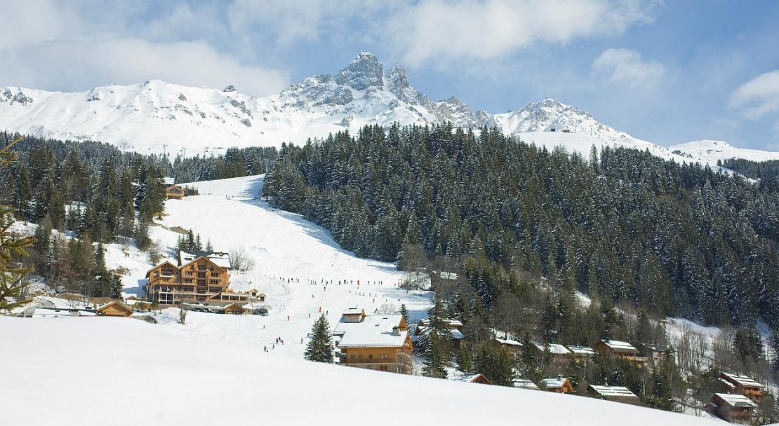 Slopes and the Hotel l'Helios
