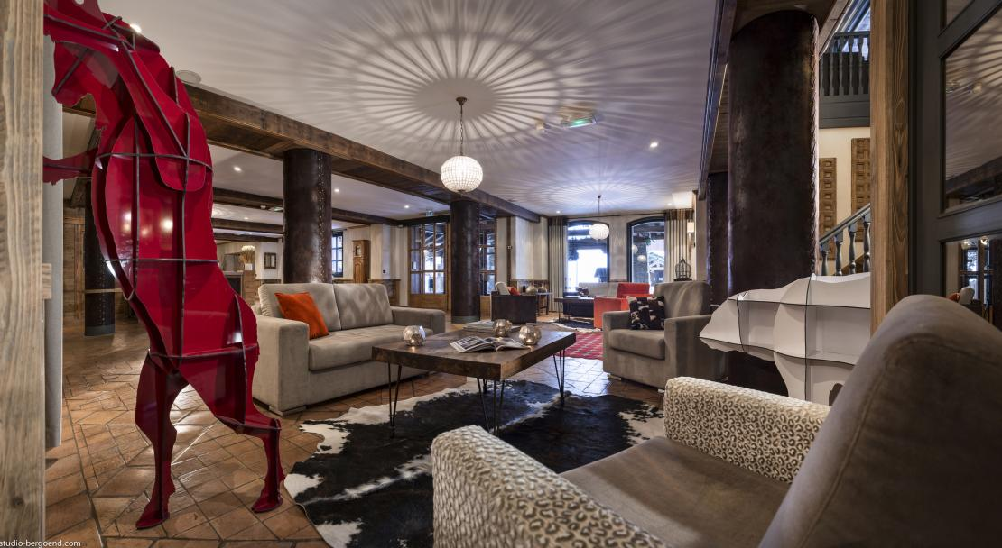 Lounge at Hotel Village Montana Tignes; Copyright: Studio Bergoend