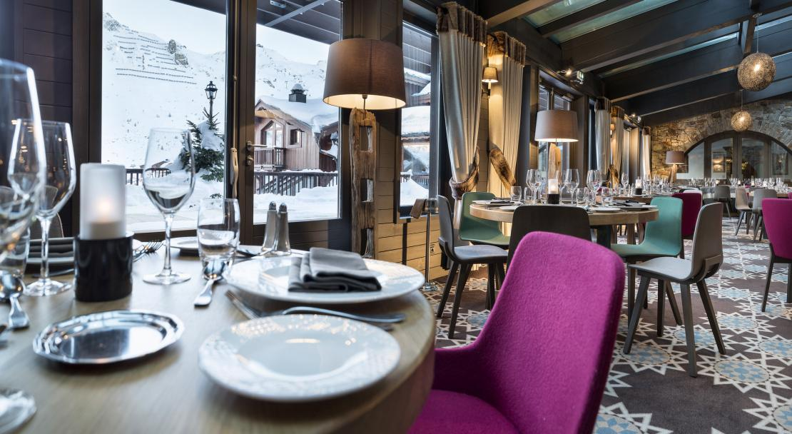 Restaurant Les Chanterelles at the Hotel Village Montana Tignes