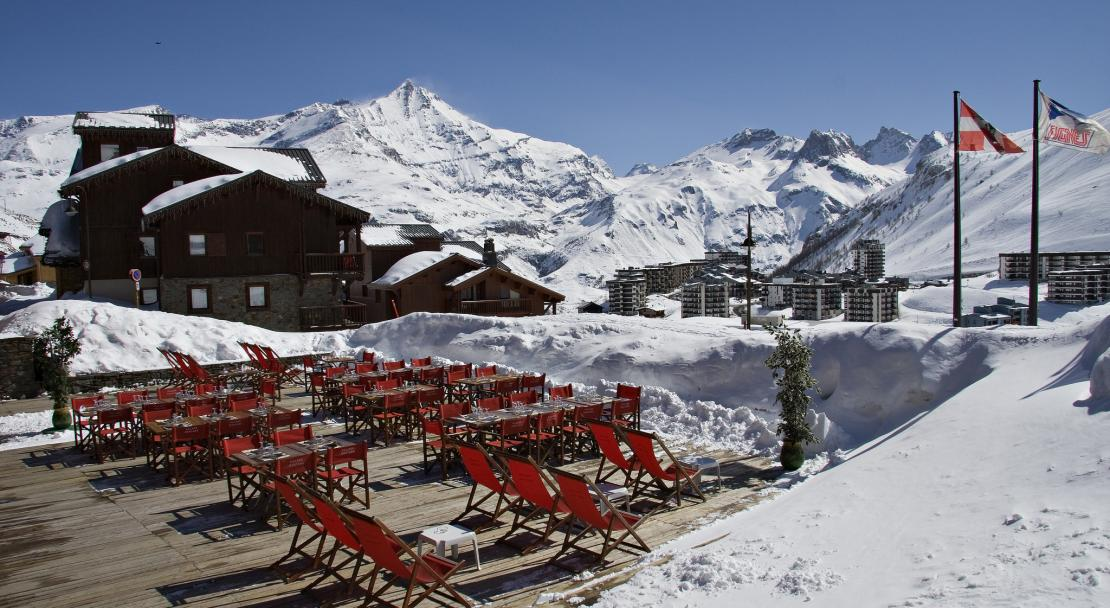 Terrasse at the Hotel Village Montana Tignes