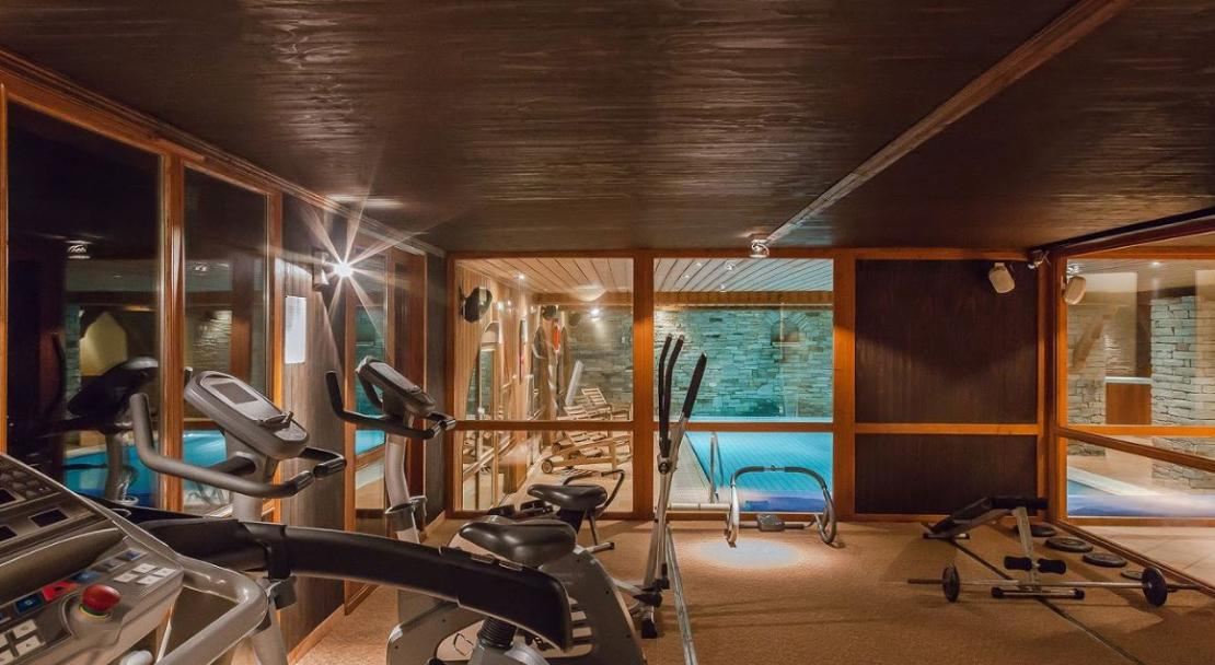 Les Balcons Belle Plagne gym; Copyright: Les Balcons