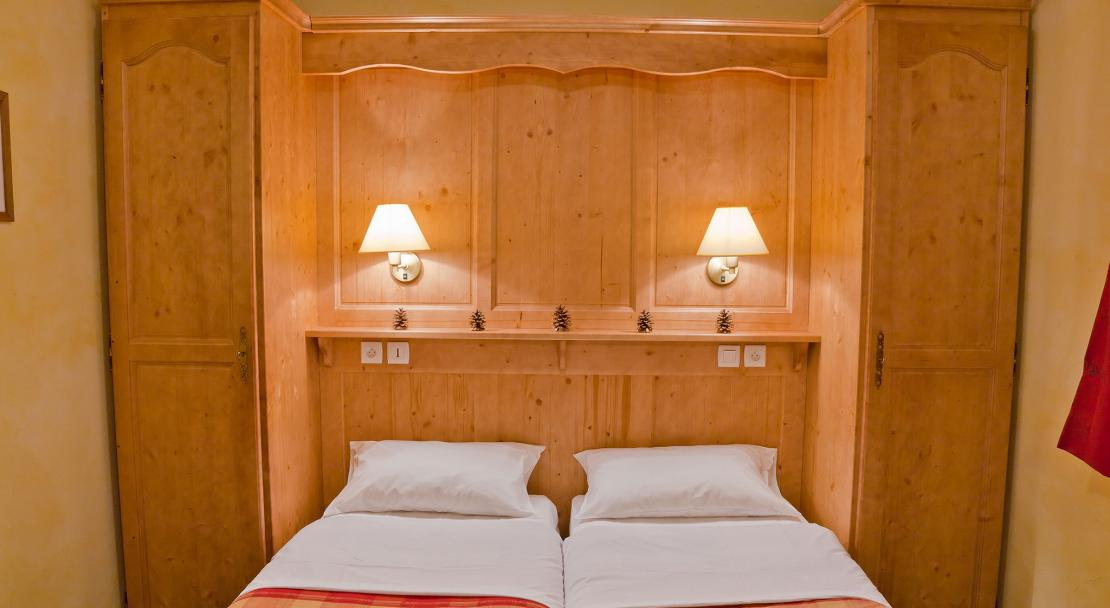 Les Balcons de la Rosiere - twin bedroom