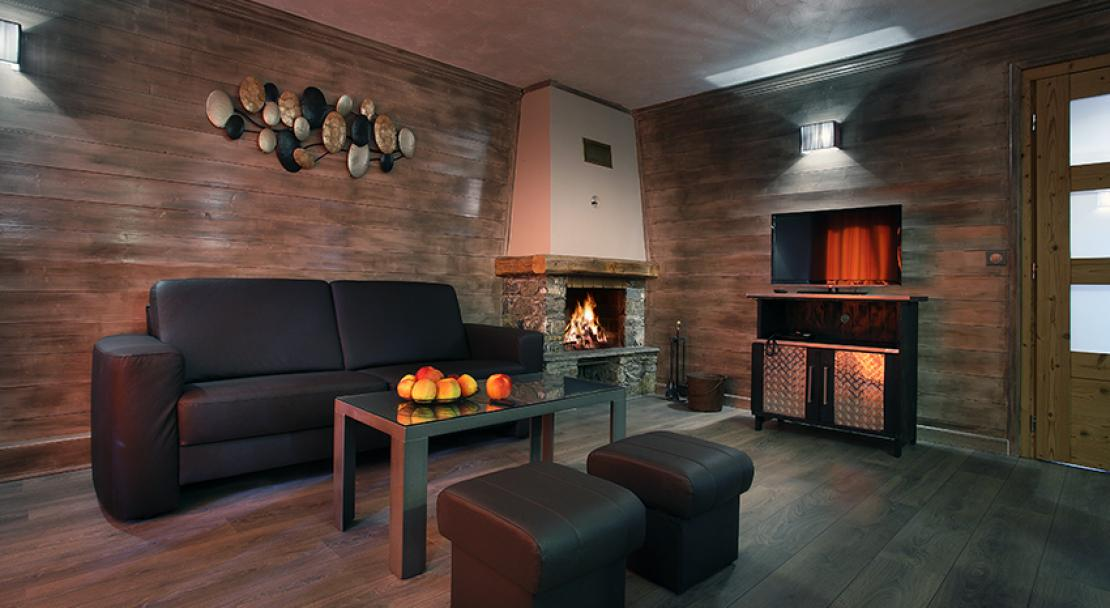 Apartment lounge in the Hermine Val Thorens