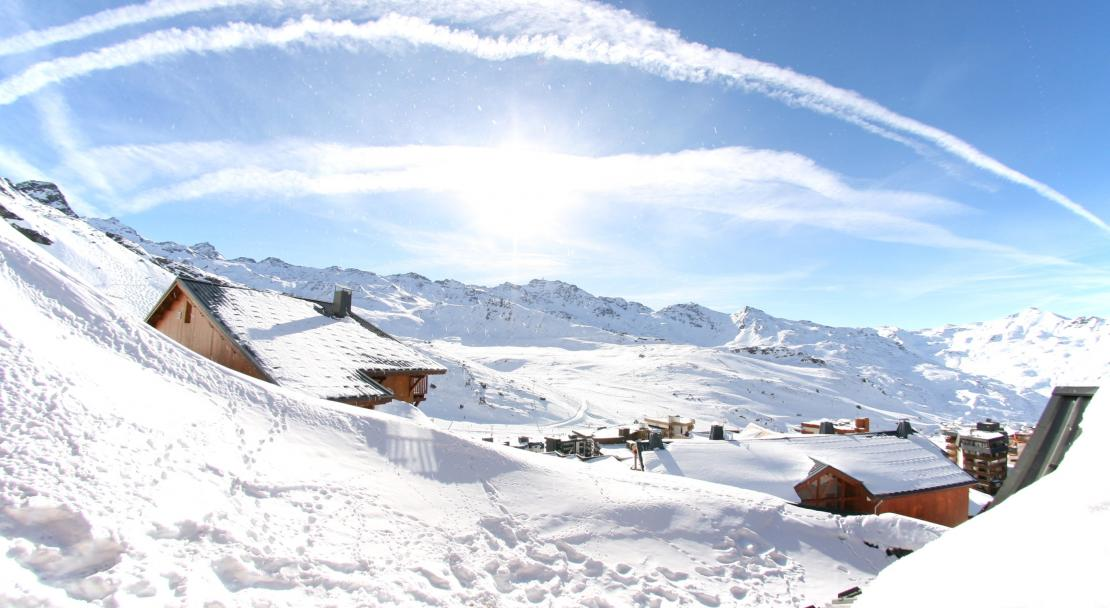 View from the Chalet des Neiges Val Thorens