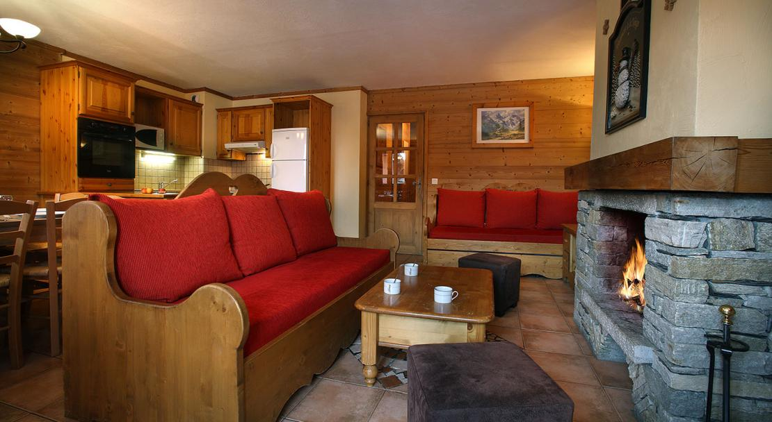 Sofa and Fireplace - Arolles - Les Arcs