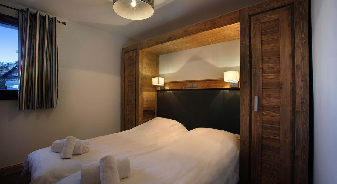 Twin bedroom with view - Arolles - Les Arcs