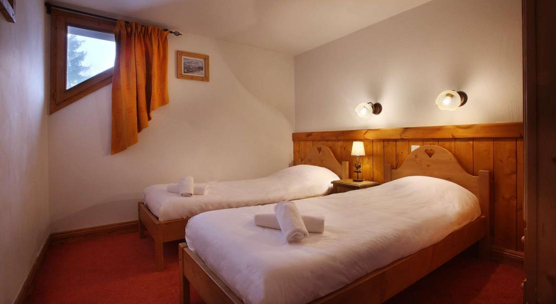 Twin beds in Oz en Oisans