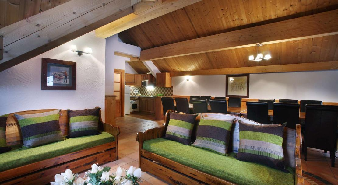 Large apartment in Oz en Oisans