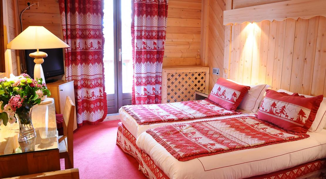 Twin Beds in Hotel Le Brussels Val d'Isere