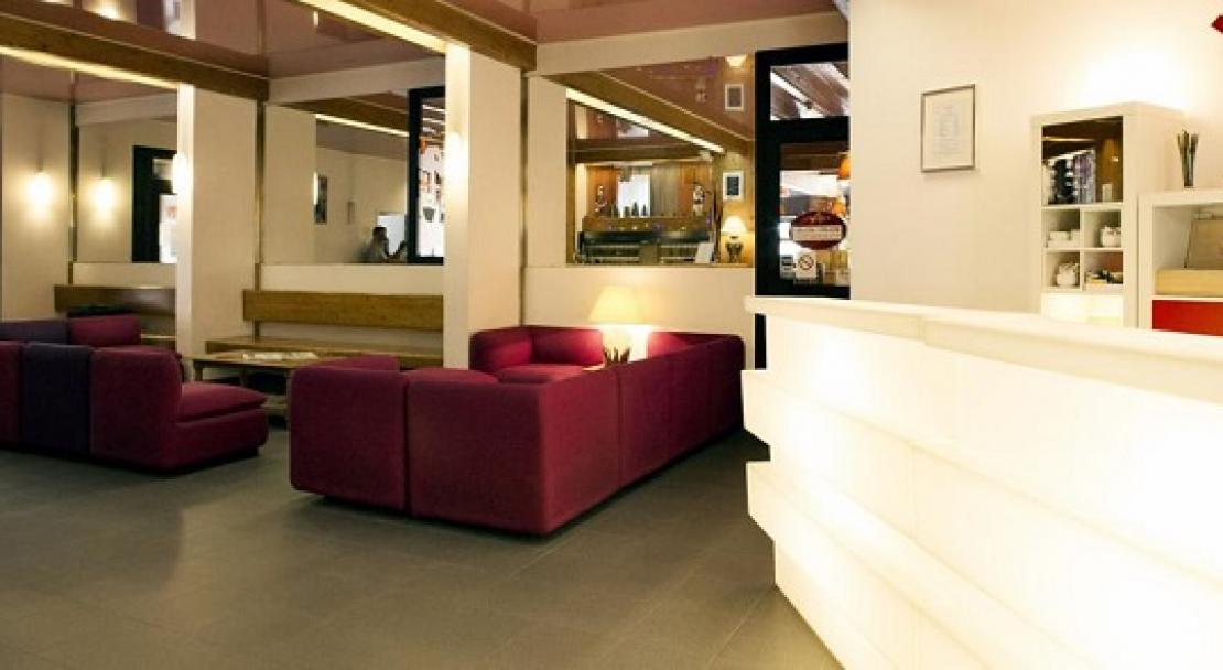 The hotel lounge at Le Parc Hotel, Serre Chevalier