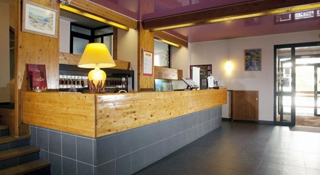 Reception Desk at Le Parc Hotel, Serre Chevalier