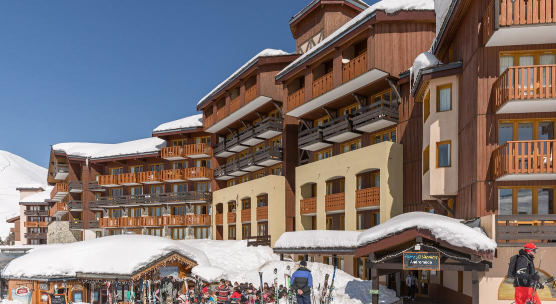 Ski in ski out at Les Constellations P&V La Plagne