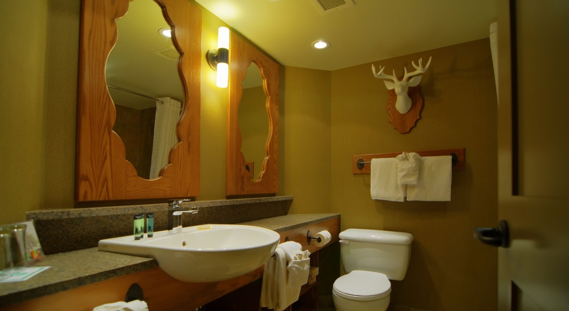 Bathroom at the Banff Caribou Lodge and Spa