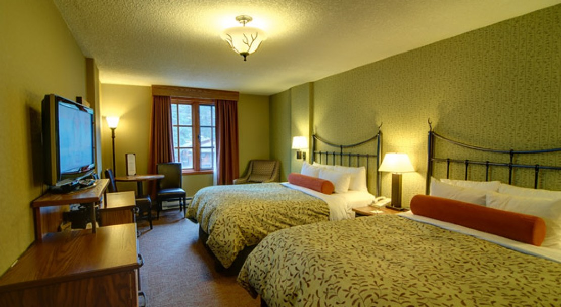 Double Beds at the Banff Caribou Lodge and Spa
