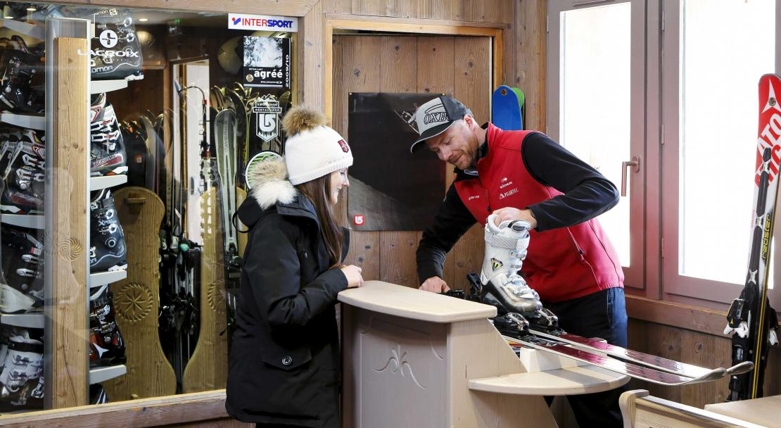 Ski shop at Hotel des Trois Vallees Courchevel