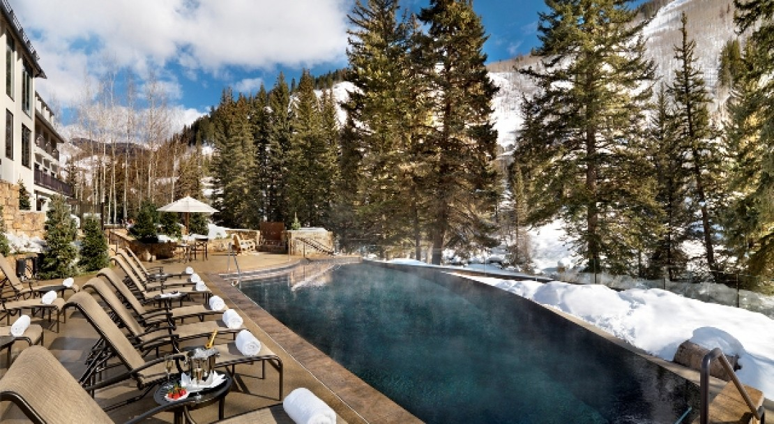 Infinity pool at Vail Cascade Resort and Spa
