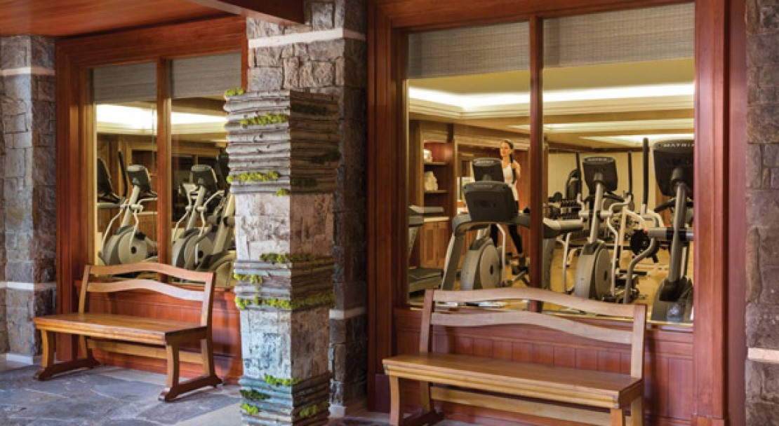 Gym at the Four Seasons Jackson Hole