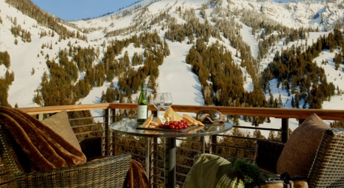Apres Ski on the Balcony at Hotel Terra - Jackson Hole