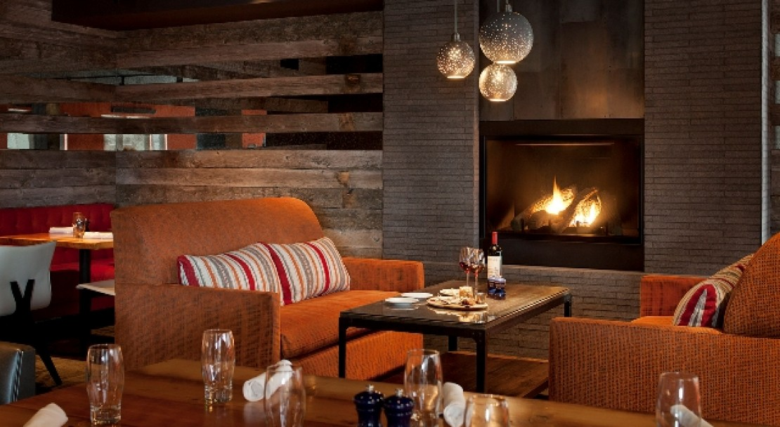 Spur Fireplace at the Teton Mountain Lodge & Spa