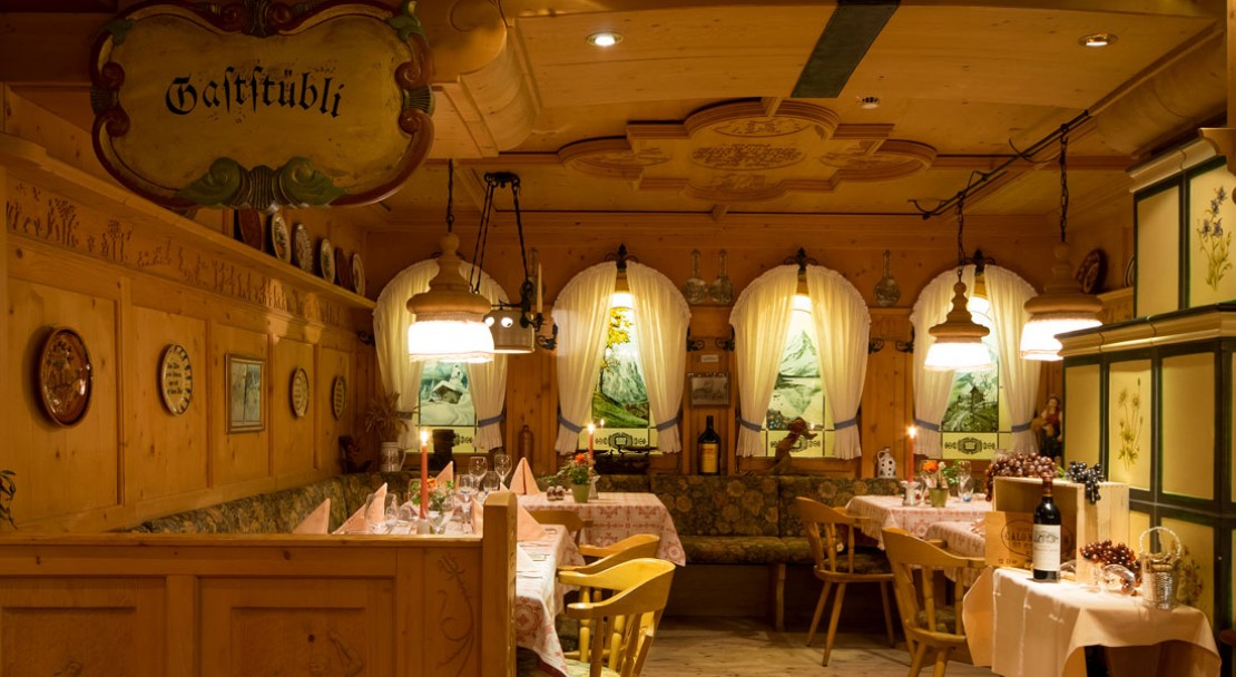 Restaurant at Romantik Hotel Schweizerhof - Grindelwald - Switzerland