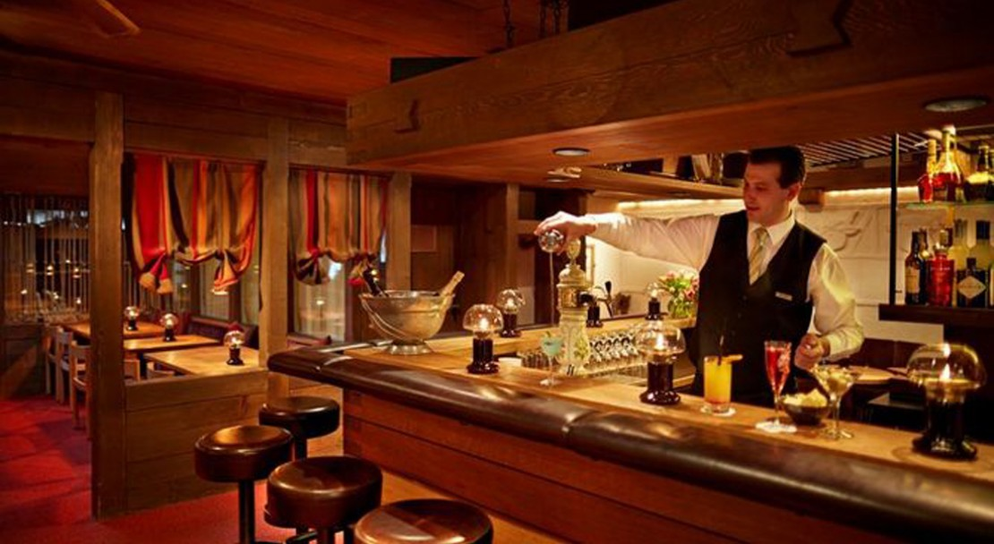 Bar at the Gstaaderhof Swiss Q Hotel - Gstaad - Switzerland