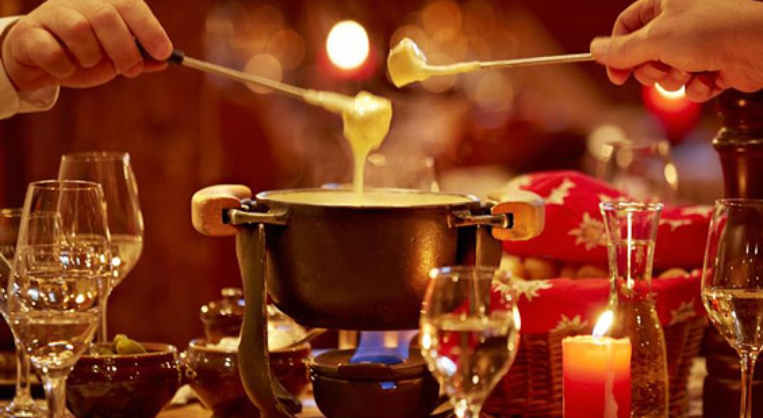 Fondue at the Gstaaderhof Swiss Q Hotel - Gstaad - Switzerland