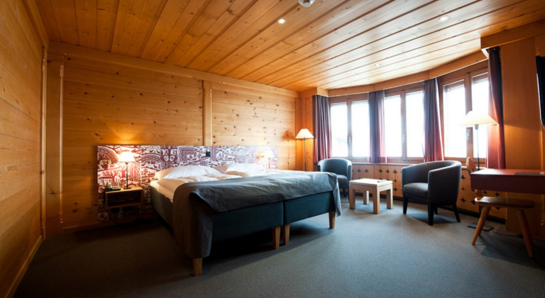 Double Room at Hotel Landhaus - Gstaad - Switzerland
