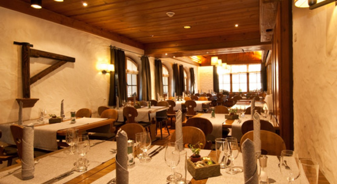 Restaurant at Hotel Landhaus - Gstaad - Switzerland