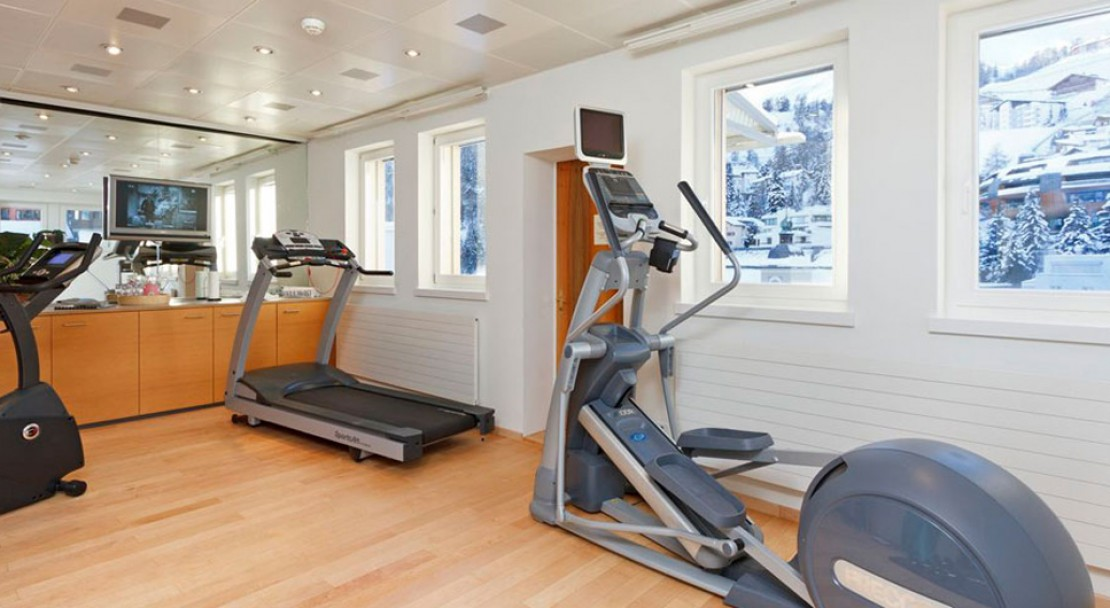 Fitness Room at Art Boutique Hotel Monopol - St Moritz - Switzerland
