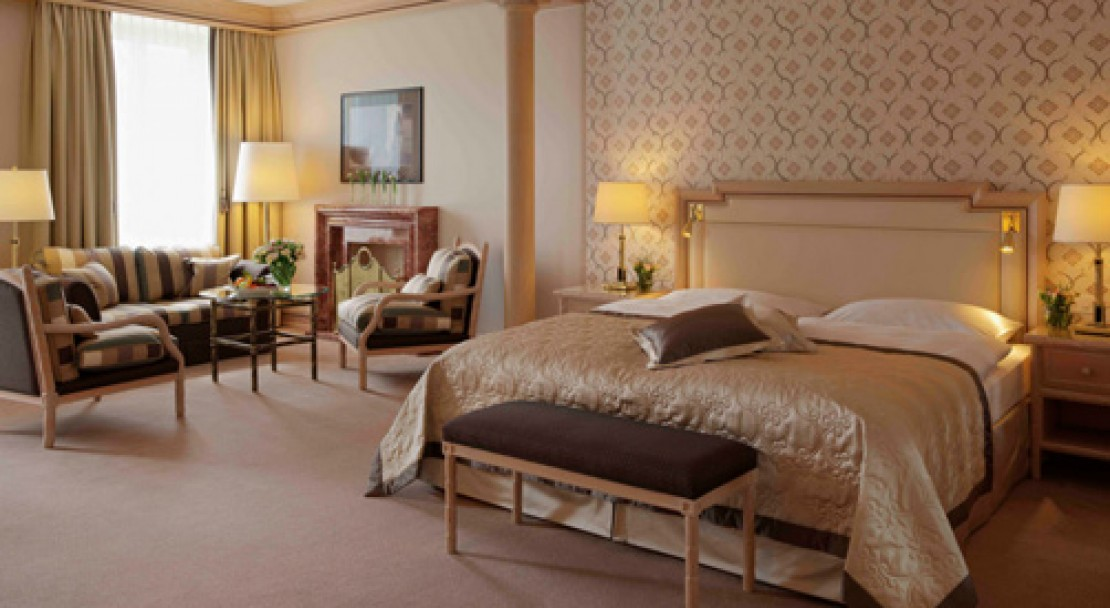 Junior suite at Kulm Hotel - St Moritz - Switzerland