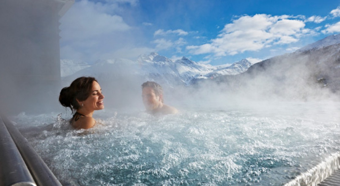 Hot tub at Kulm Hotel - St Moritz - Switzerland
