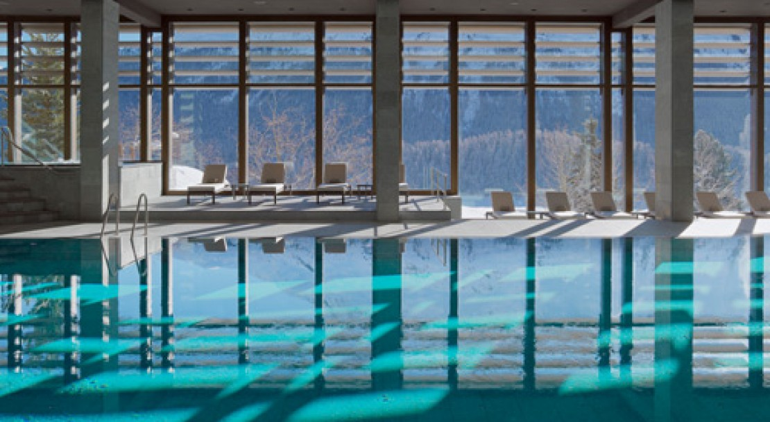 Pool at Kulm Hotel - St Moritz - Switzerland
