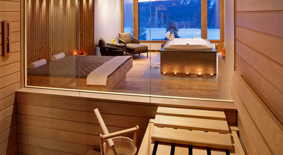 Spa suite at Kulm Hotel - St Moritz - Switzerland