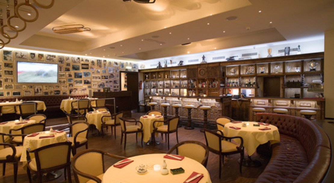 Restaurant at Kulm Hotel - St Moritz - Switzerland