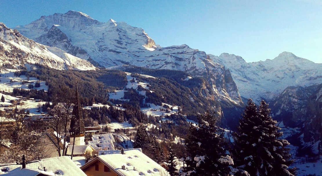 View from jungfrau room at Wengener Hof - Wengen - Switzerland