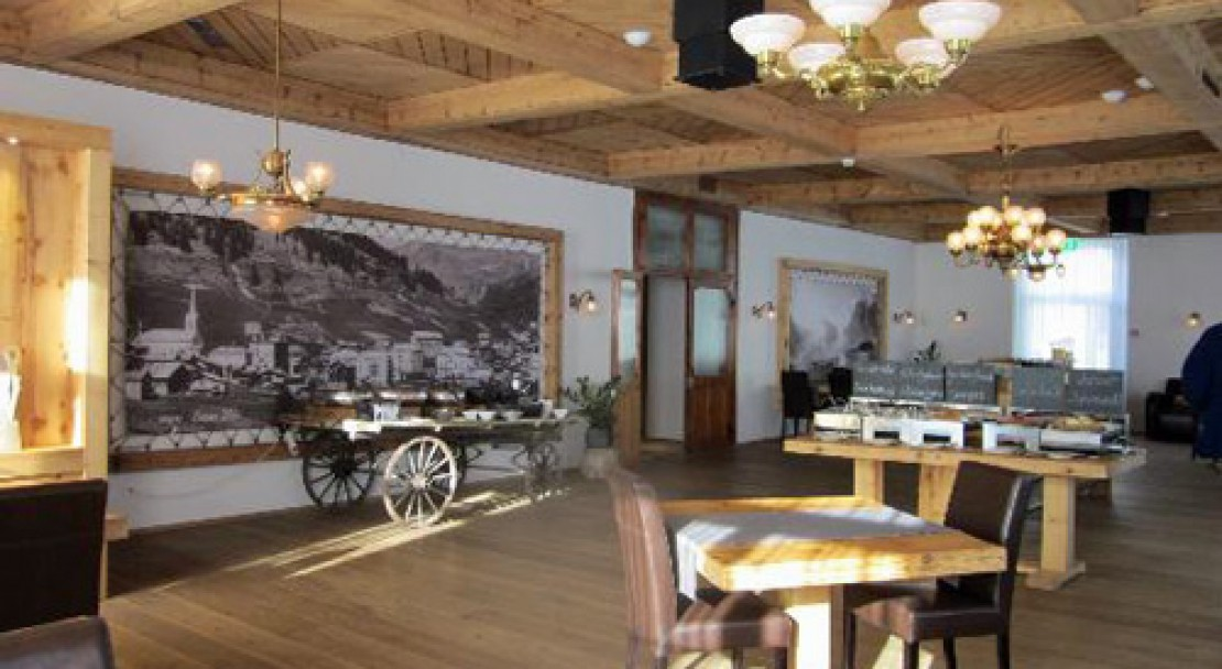 Dining Room at The Dom Hotel - Saas-Fee - Switzerland