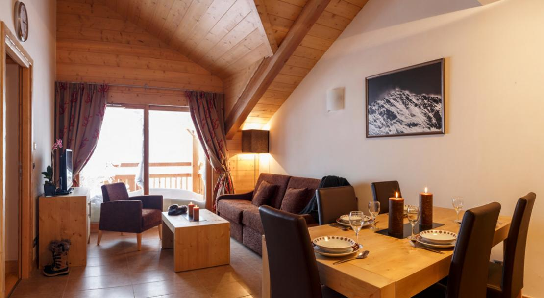 Living Area in Le Napoleon - Montgenevre