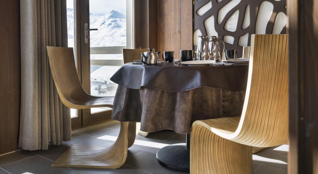 Breakfast at Le Hameau du Kashmir Val Thorens