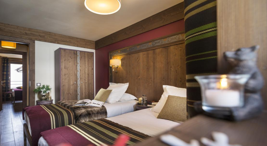 Twin Beds in Le Hameau du Kashmir Val Thorens
