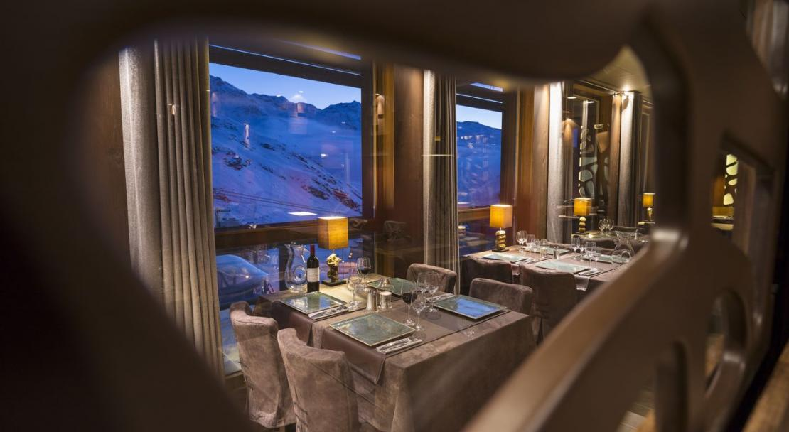 Restaurant at the Hotel Le Hameau du Kashmir Val Thorens